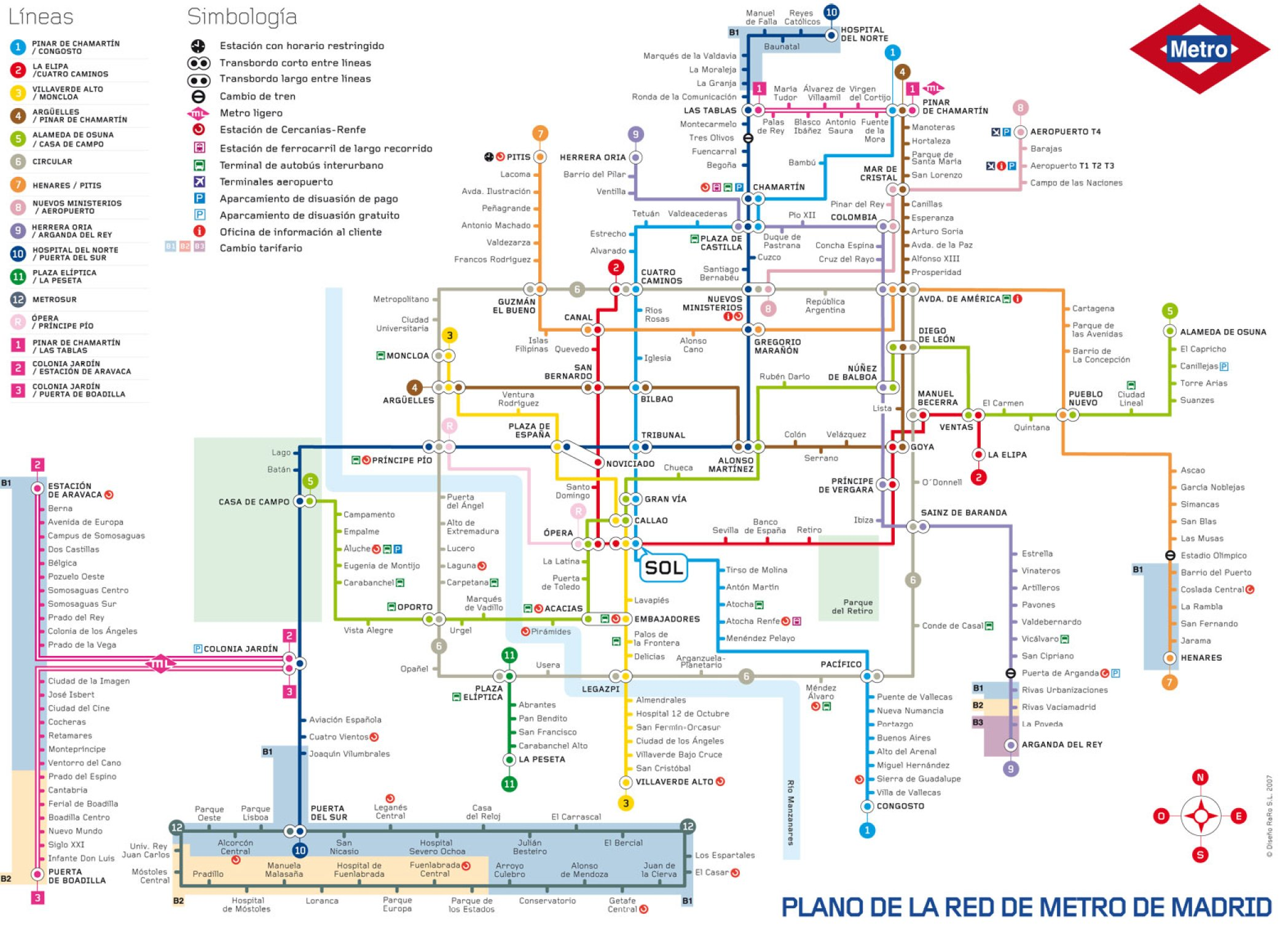 Tube Map Madrid